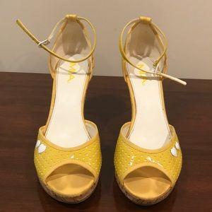 Yellow Cork Sandals